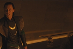 Loki visits with the Warriors 3 and Sif after Thor is banished