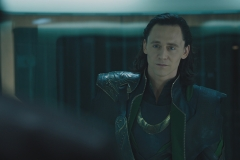 Loki is brought on the helicarrier and threatened by Nick Fury