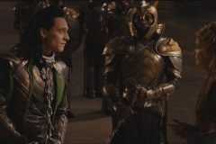 Loki is brought before Odin in chains